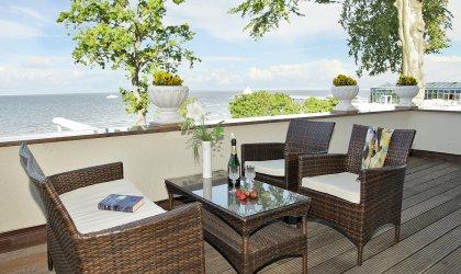 Ferienwohnung Terrasse mit Seeblick
